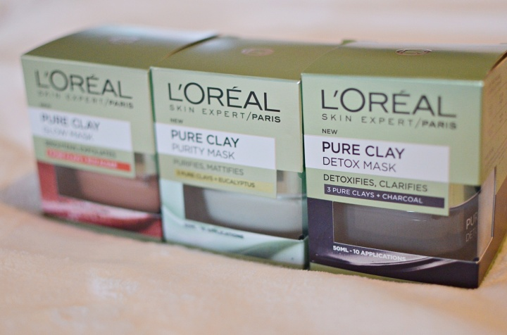 New: L'Oreal Pure Clay Masks