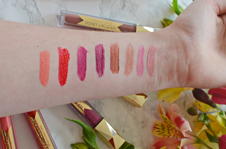 Max Factor Honey Lacquer Swatches