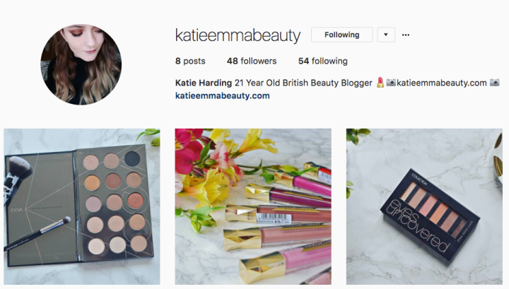 New Instagram Account | @KatieEmmaBeauty