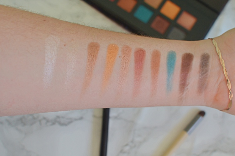 Barry M Eyeshadow Palette Swatch