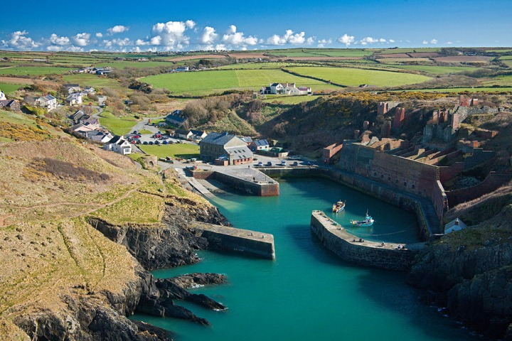 Porthgain Aerial Pembrokeshire South Towns & Villages