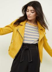 Mustard Suedette Biker Jacket £39.99