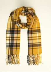Yellow Check Longline Scarf £9.99