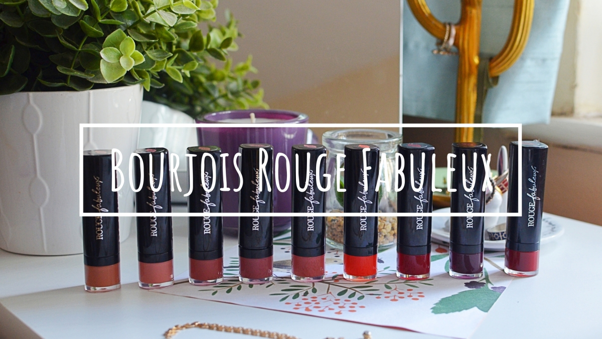 New | Bourjois Rouge Fabuleux Lipsticks
