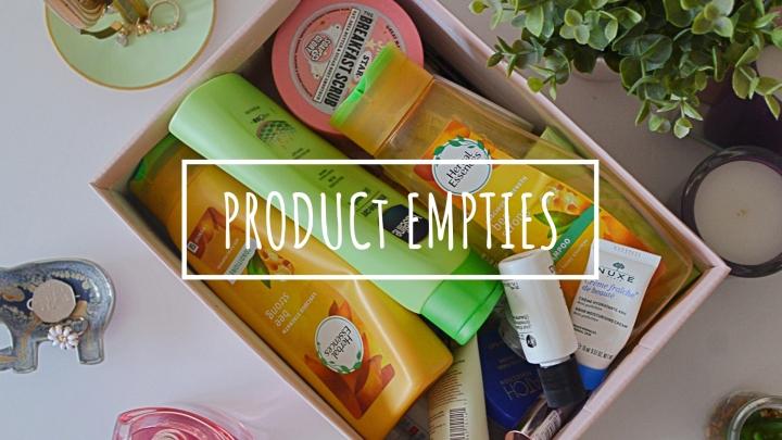 Product Empties & Mini Reviews | October18