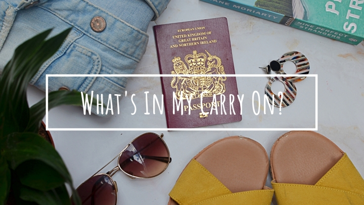 What's In My CarryOn?