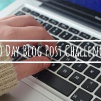 30 Day Blog Post Challenge